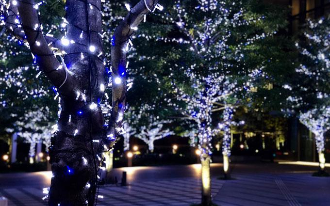 青と白のLEDライト