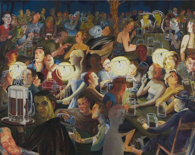 """Nicole Eisenman, """"Beer Garden at Night"""" (2007)"""
