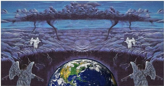 Les sauterelles reçoivent le même ordre que les 4 anges qui retiennent les 4 vents de la colère divine, celui de ne pas faire de mal aux arbres et à la végétation de la terre, de l'ange qui vient du soleil levant avec le sceau de Dieu , Jésus-Christ.
