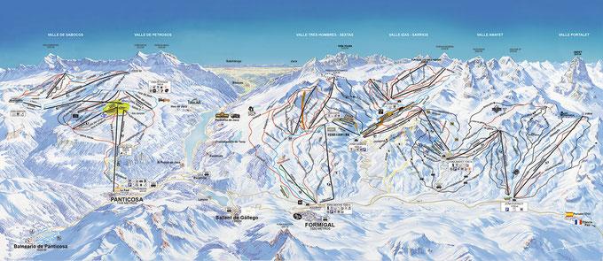 mapa panticosa ski 2018