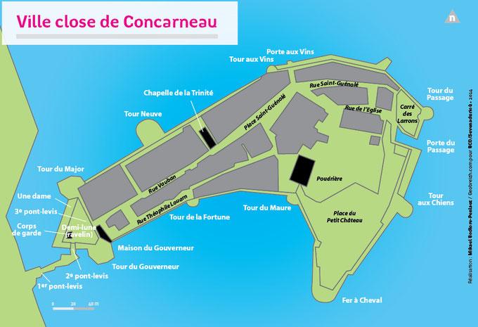 Plan der Ville close de Concarneau