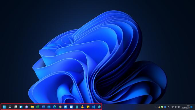 Windows11 タスクバー左寄せ画面画像