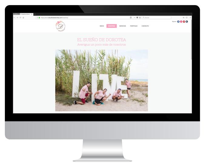 Página web de El Sueño de Dorotea
