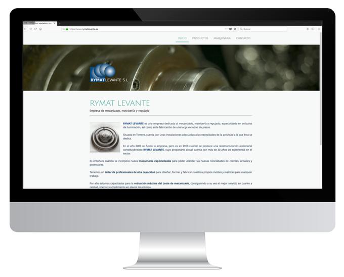 Página web de Rymat Levante SL