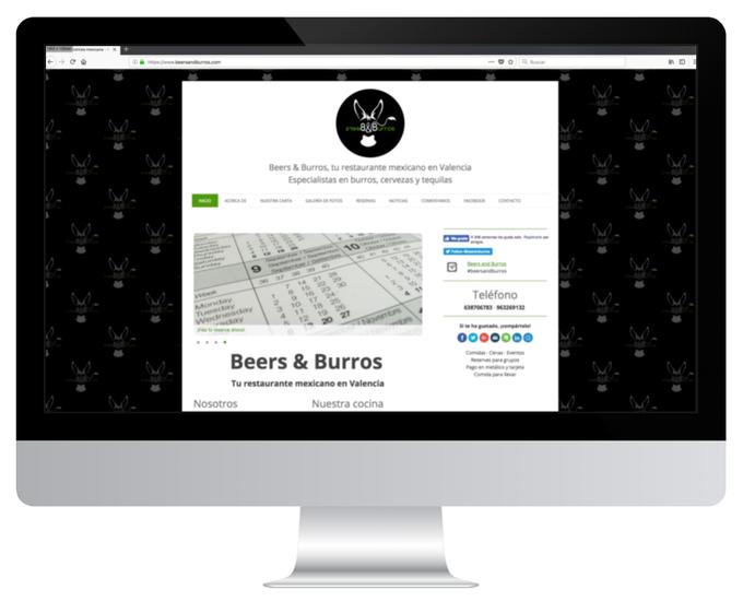 Página web de Beers & Burros