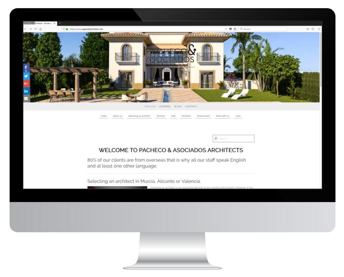 Página web de Pacheco & Asociados