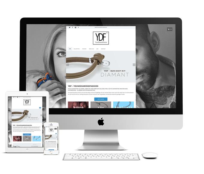 Responsive Webdesign mit individuellem Template für Jimdo - YDF Youngdiamondfashion