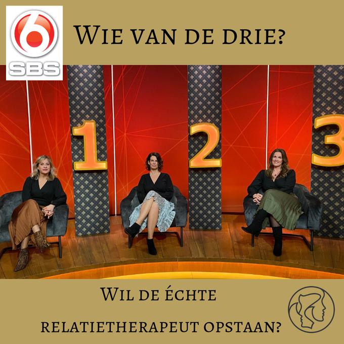 Kim Kromwijk-Lub bij SBS6 Wie van de drie is de echte relatietherapeut