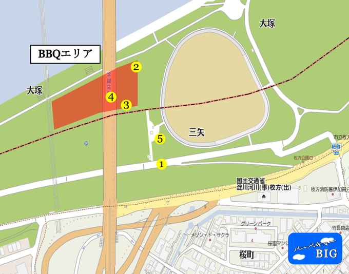 枚方地区BBQマップ