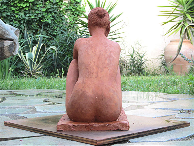 sculpture nude female nude sculpture nude woman sitting couples figurative bronze clay.nouveausculpteur.