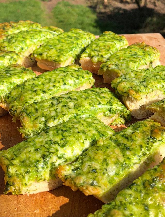 Bärlauch Käse Baguette, einfach und schnell gemacht, Thermomix