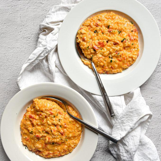 """Risotto """"geröstete Paprika"""", vegetarisch, vegan möglich, Thermomix"""
