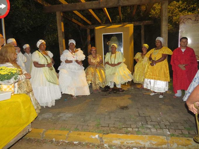 Cerimonia em defesa da 'Gruta da Mãe Oxum' da Praia da Alegria em Guaíba - Rio Grande do Sul
