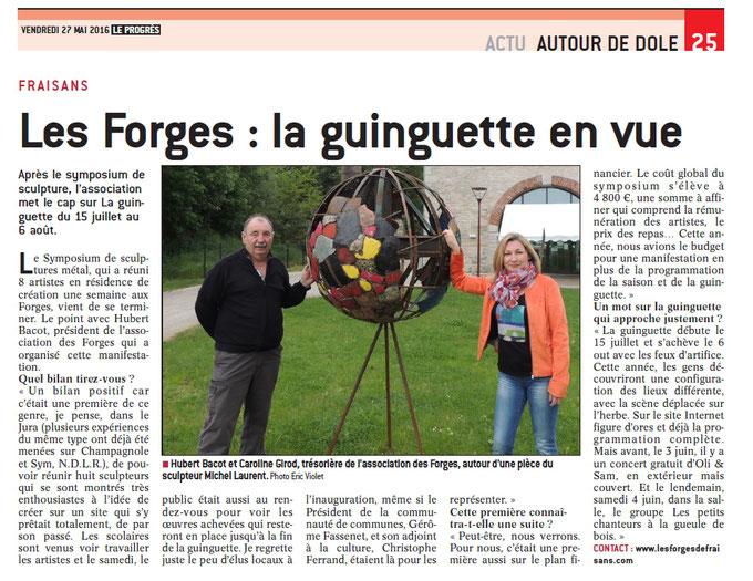 Sculpture métallique réalisée pendant le symposium de sculpture sur métal des Forges de Fraisans © Michel LAURENT (MichL)