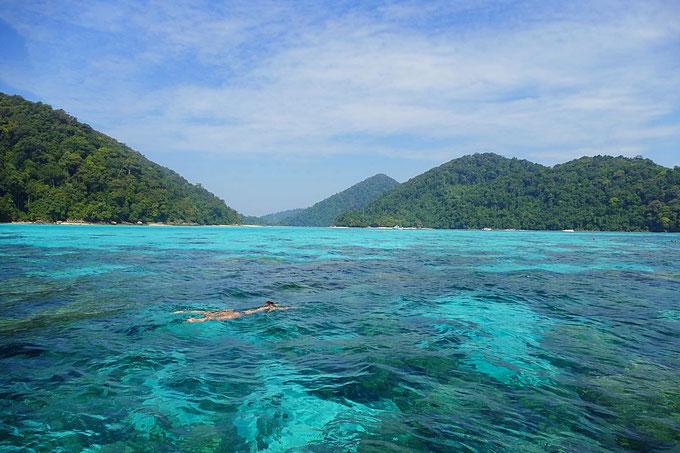 Mu Ko Surin Nationalpark: Kristallklares Wasser und perfekt zum schnorcheln und tauchen.