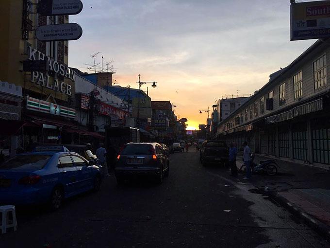 Khao San Road Sonnenaufgang