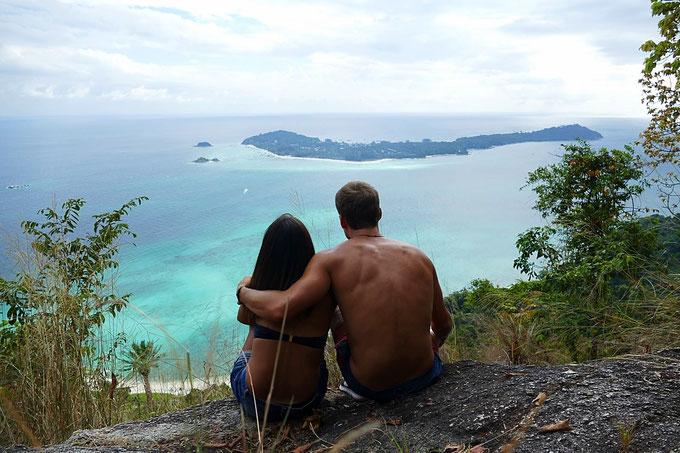 Viewpoint, Koh Adang mit Sicht auf Koh Lipe, Thailand