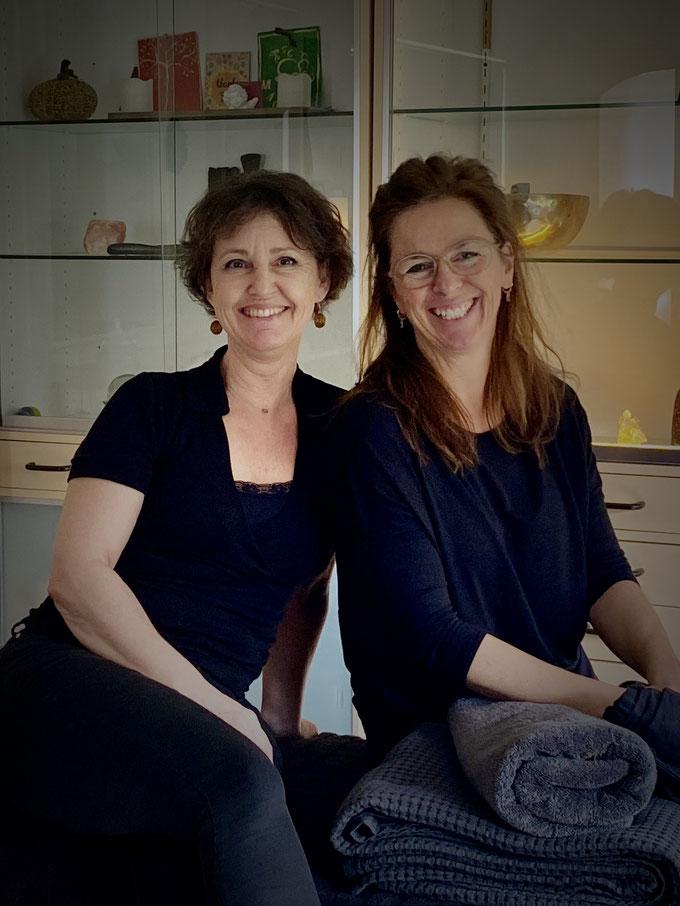 Simone van Ham en Greet Penneman