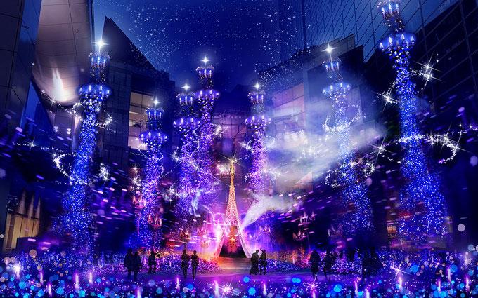 【カレッタ汐留】ディズニー映画「アラジン」の世界観をイメージしたイルミネーションが11月14日から開催! ジョワーヌ東京