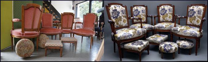 marylinegrac- tapissier d'ameublement-Fauteuils- Rénovation complète
