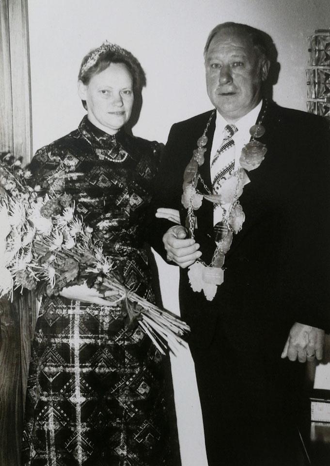 1974: Königspaar Heinrich und Mathilde Schnieder (geb. Bürse)