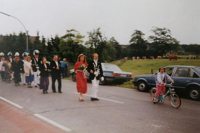 1990: Königspaar Rudolf und Anja Hernsel (geb. Huesmann)