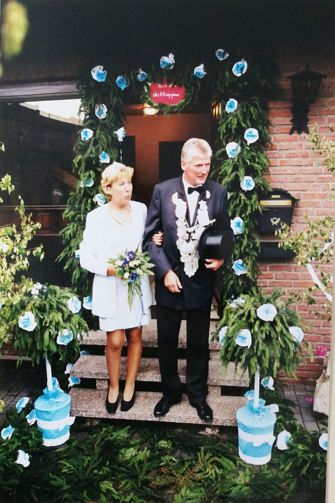 1996: Königspaar Rudolf und Irmgard Kolender (geb. Niehoff)