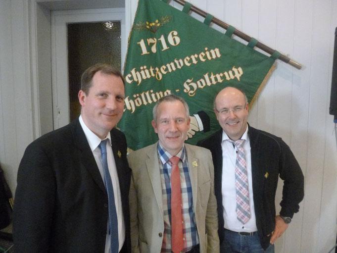 von links: Martin Schnieder, Berthold Schnieder und Stephan Brüning