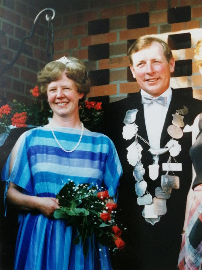 1986: Königspaar August und Anni Schnieder (geb. Dierker)