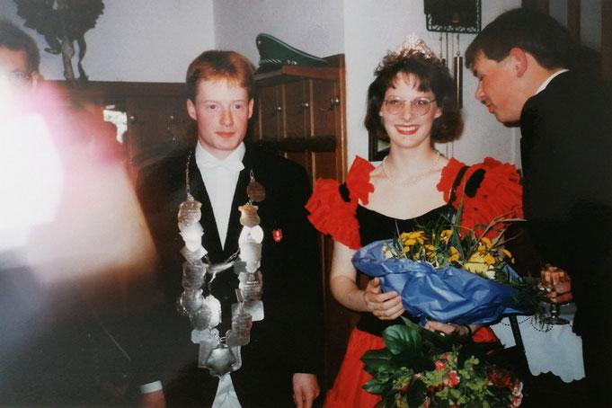 1994: Königspaar Frank Leppmann mit Tanja Hillebrand