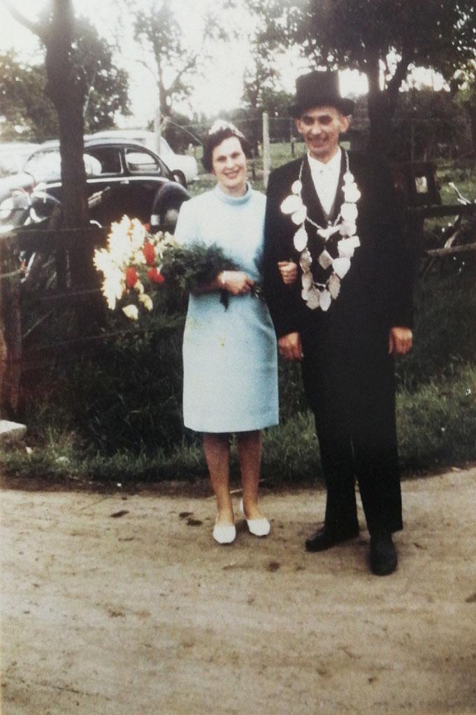 1968: Königspaar Wilhelm und Maria Rüter (geb. Soddemann)