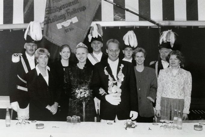2000: Königspaar Jörg Steinkamp und Nicole Grothues
