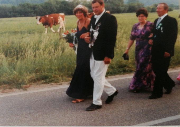 1982: Königspaar Werner Schlinge und Ursula Hast