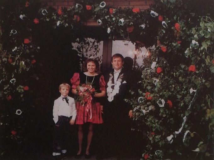 1992: Königspaar Franz-Josef und Erika Brüning (geb. Balster) mit Sohn Andreas Brüning
