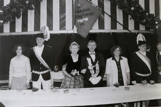 1998: Das Königspaar Lui und Heti Grothues (geb. Hülsbusch)