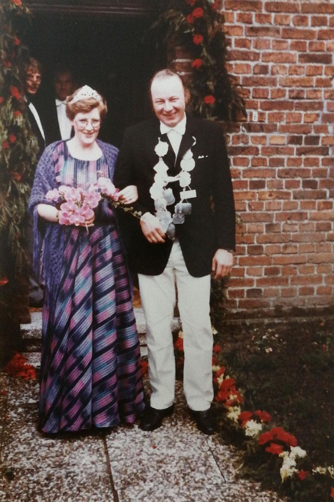 1984: Königspaar Franz und Marianne Kammann (geb. Wietel)