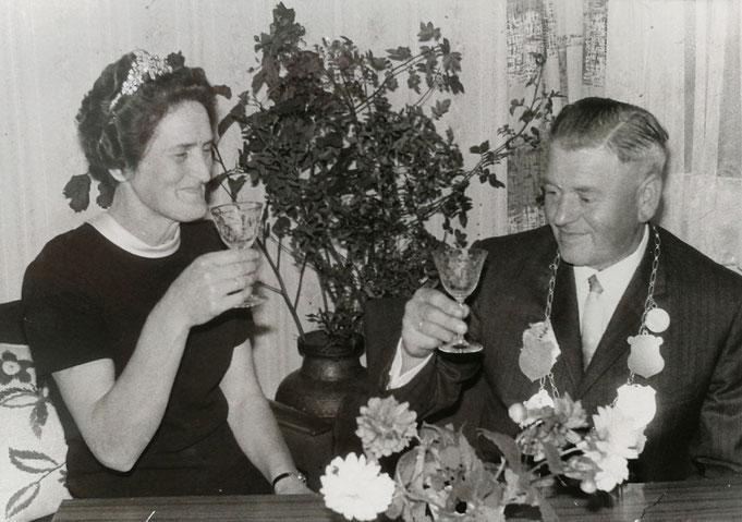 1966: Königspaar Heinrich und Hedwig Richter (geb. Brüggemann)