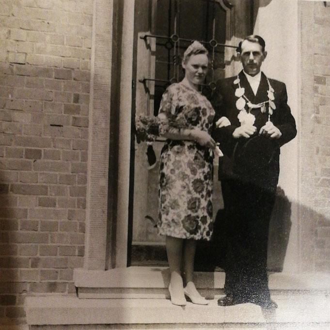 1962: Königspaar Werner Leppmann und Mathilde Bürse