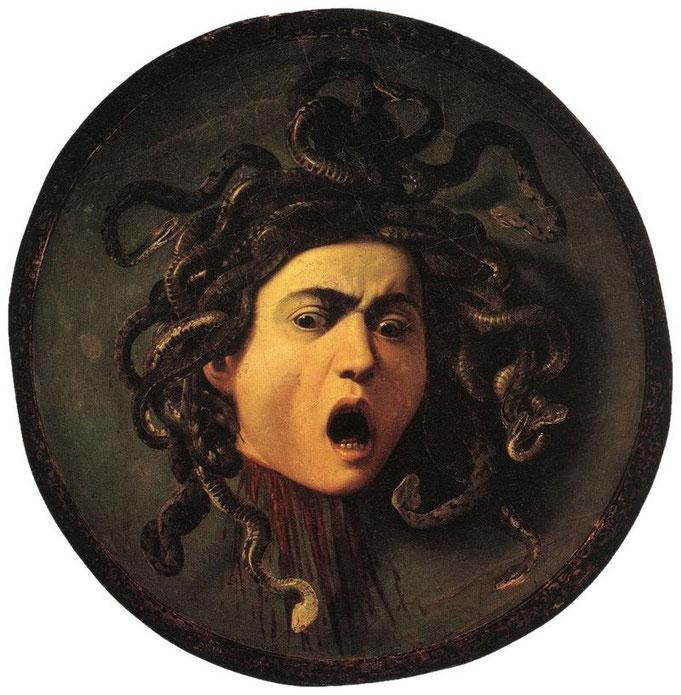 Medusa; Caravaggio; Uffizi; Florencia; ser mujer ayer y hoy; mujeres malvadas;