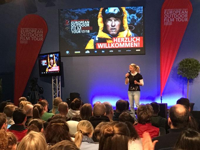 Auf der f.ree Messe in München mit der European Outdoor Film Tour
