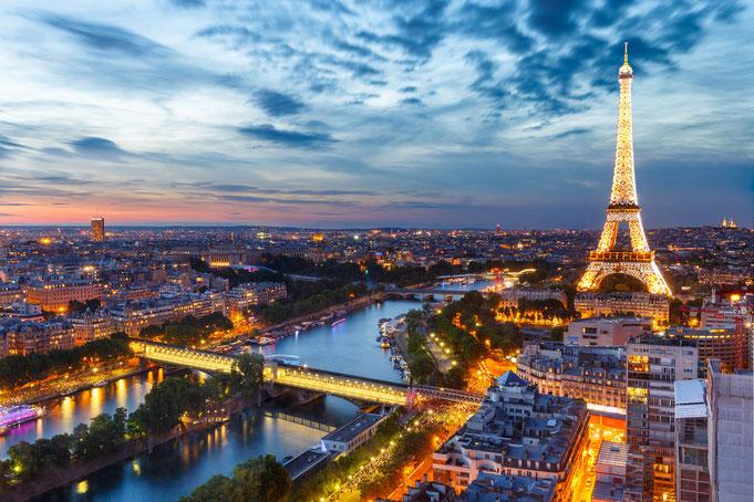 Une soirée à Paris - dans la ville de l'amour.