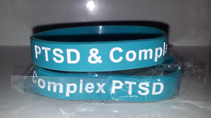 PTSD and Complex awareness PTSD Wristbands - twin pack