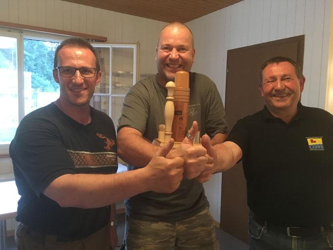 Von links: Peter Kammermann, Pit Bühler, Tony Wiederkehr.