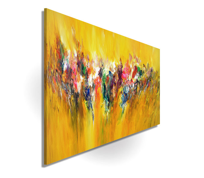 yellow painting, abstract modern art