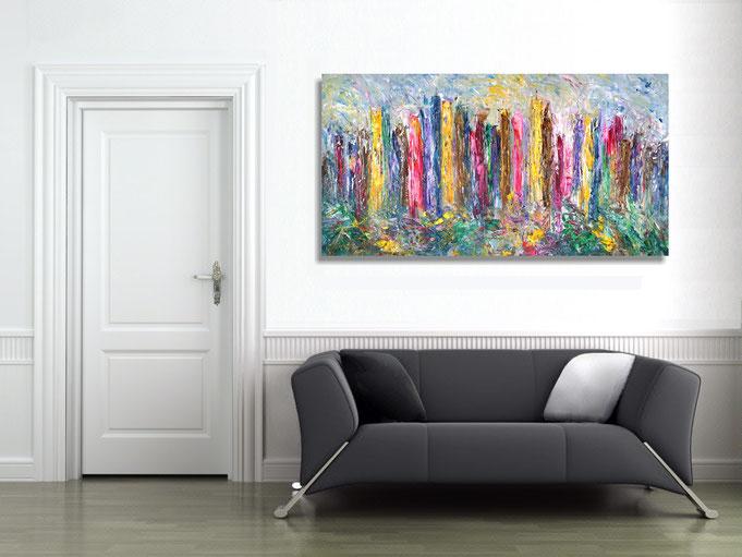 Vincent Meets Mona Lisa at the wall