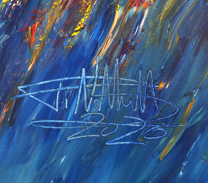 signature of the artist Peter Nottrott and year of creation: 2020