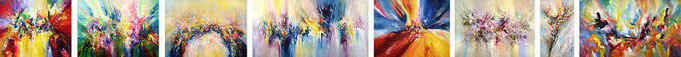 abstract paintings, contemporary acrylic paintings on canvas, extra large xxxl-paintings, artist Peter Nottrott