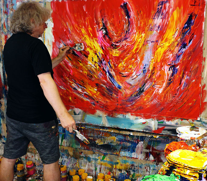 ..while creating the artwork