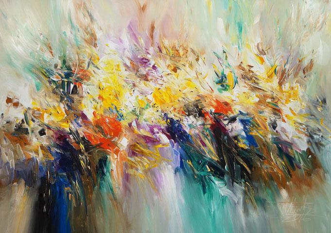 Modern art by Peter Nottrott: summer painting