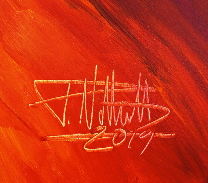 Signature of the artist Peter Nottrott and year of creation: 2019